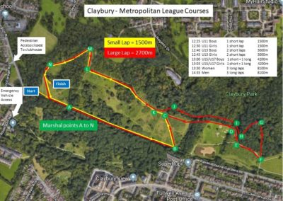 Race 1 Claybury – Course Map